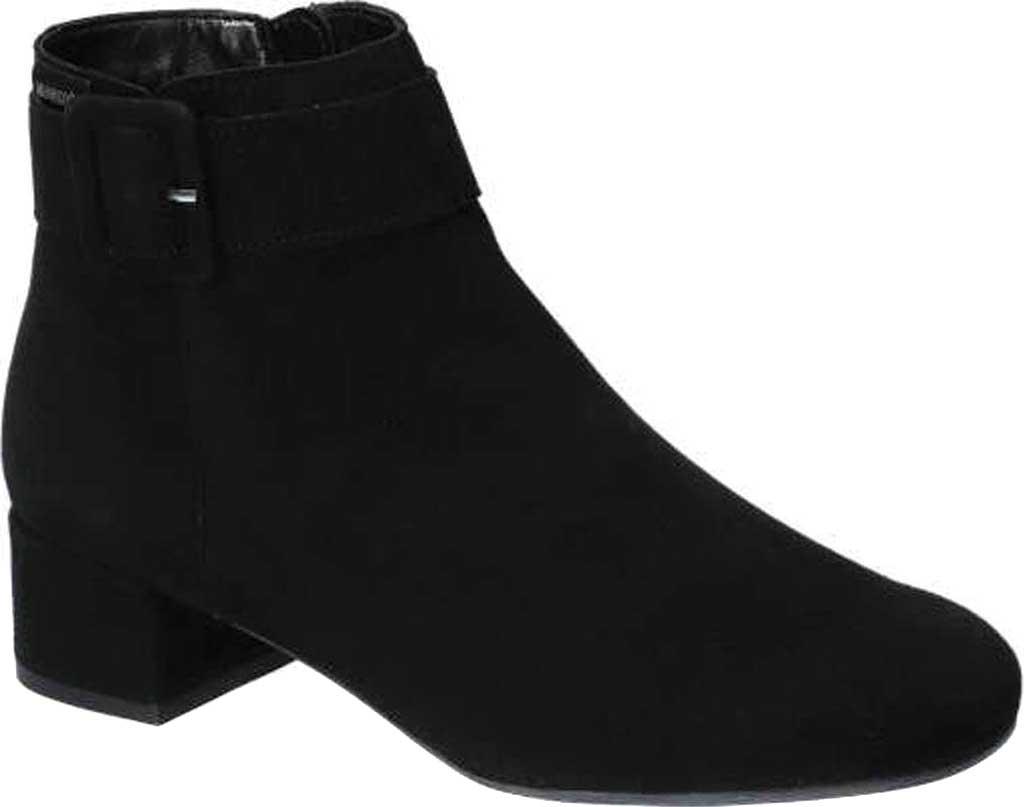 Women's Mephisto Balina Ankle Bootie, Black Velcalf Premium Suede, large, image 1