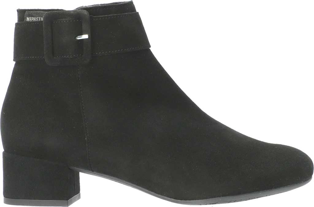 Women's Mephisto Balina Ankle Bootie, Black Velcalf Premium Suede, large, image 2