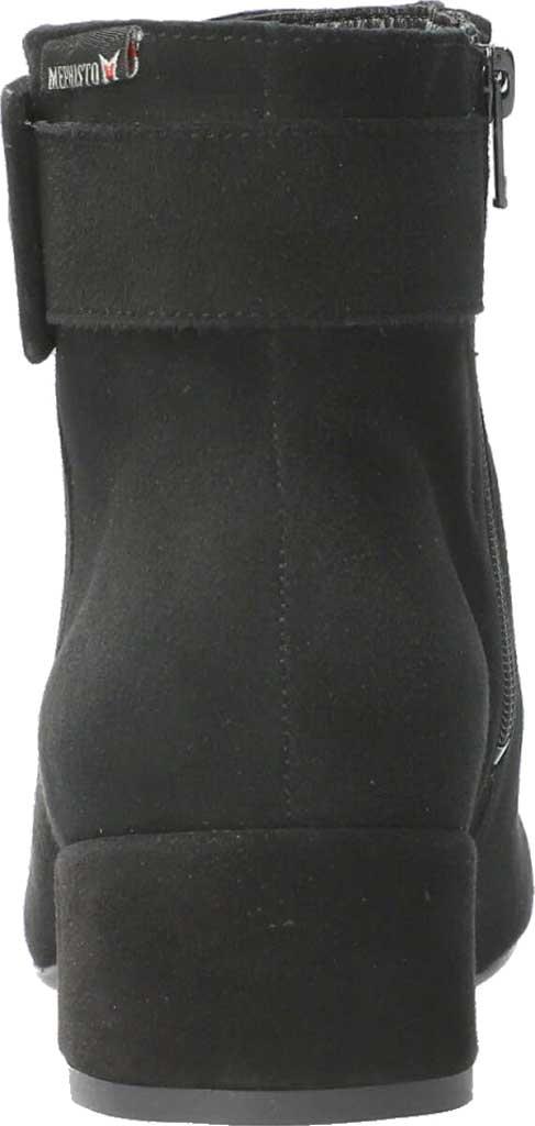 Women's Mephisto Balina Ankle Bootie, Black Velcalf Premium Suede, large, image 3