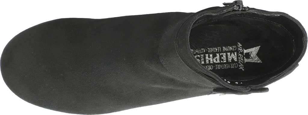 Women's Mephisto Balina Ankle Bootie, Black Velcalf Premium Suede, large, image 4