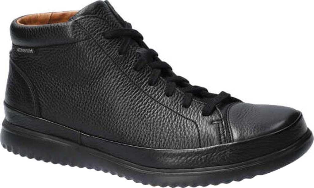 Men's Mephisto Trevor High Top Sneaker, Black Oregon Smooth Leather, large, image 1