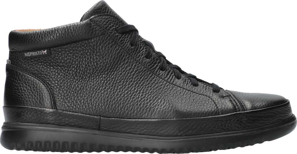 Men's Mephisto Trevor High Top Sneaker, Black Oregon Smooth Leather, large, image 2