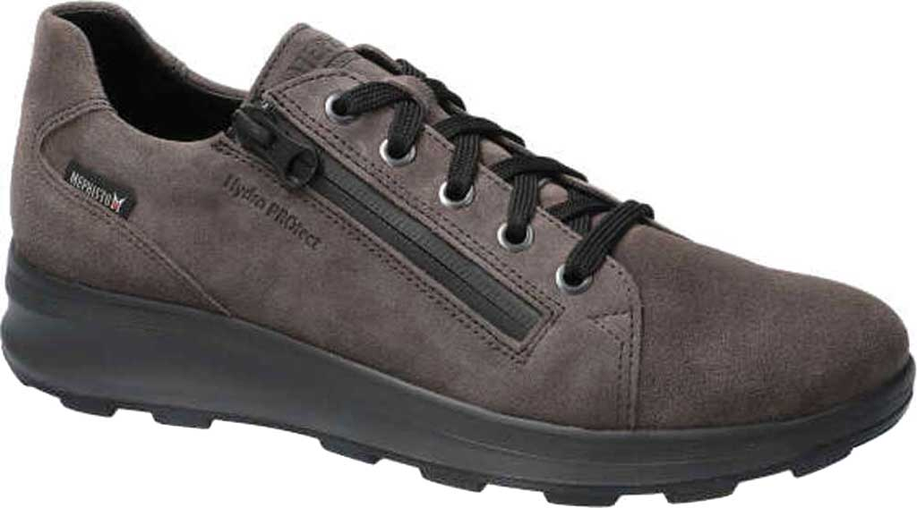 Women's Mephisto Vally Sneaker, Graphite Velsport Suede, large, image 1