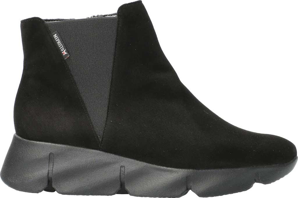 Women's Mephisto Hazelina Wedge Heel Boot, Black Velcalf Premium Suede, large, image 2