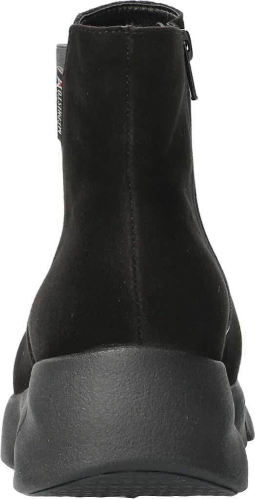 Women's Mephisto Hazelina Wedge Heel Boot, Black Velcalf Premium Suede, large, image 3