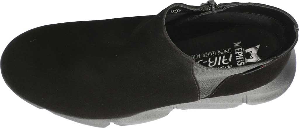 Women's Mephisto Hazelina Wedge Heel Boot, Black Velcalf Premium Suede, large, image 4