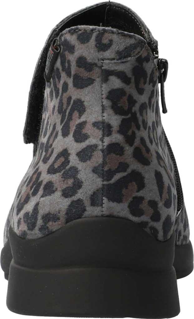 Women's Mephisto Samira Ankle Bootie, Dark Grey Leopard Nubuck, large, image 3