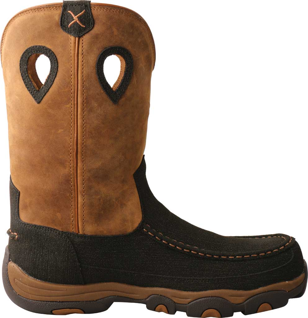 """Men's Twisted X MHKBN01 11"""" Pull On Hiker Composite Toe Work Boot, Charcoal/Tan Full Grain Leather, large, image 2"""