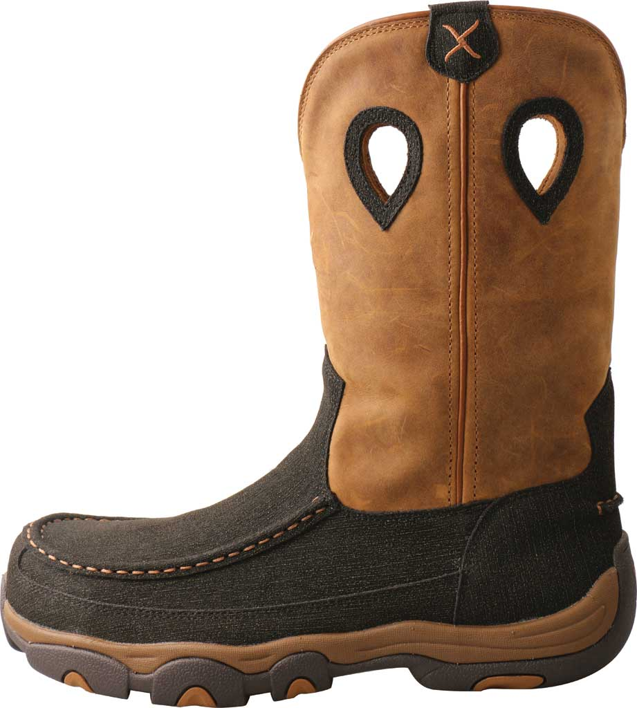 """Men's Twisted X MHKBN01 11"""" Pull On Hiker Composite Toe Work Boot, Charcoal/Tan Full Grain Leather, large, image 3"""