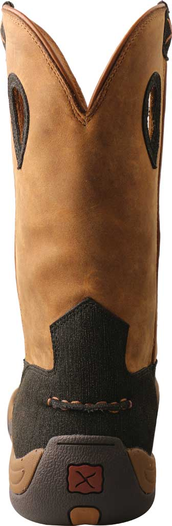 """Men's Twisted X MHKBN01 11"""" Pull On Hiker Composite Toe Work Boot, Charcoal/Tan Full Grain Leather, large, image 4"""