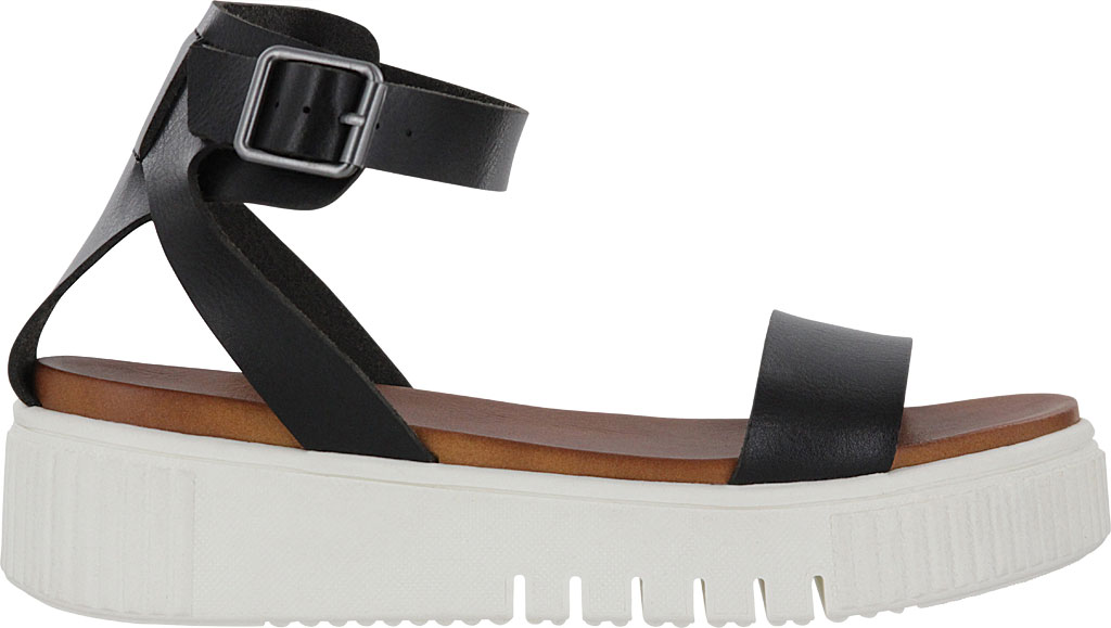 Women's Mia Lunna Athletic Sandal, Black Vegan Leather, large, image 2