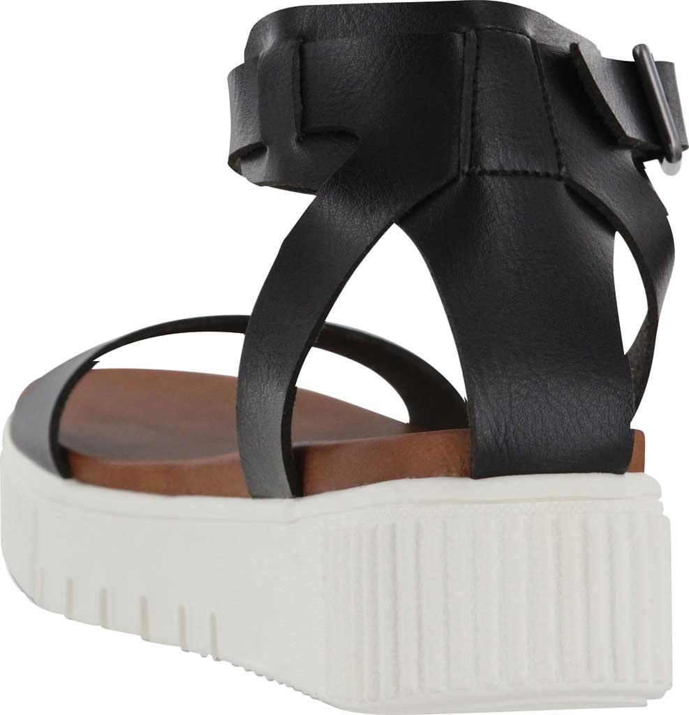 Women's Mia Lunna Athletic Sandal, Black Vegan Leather, large, image 3