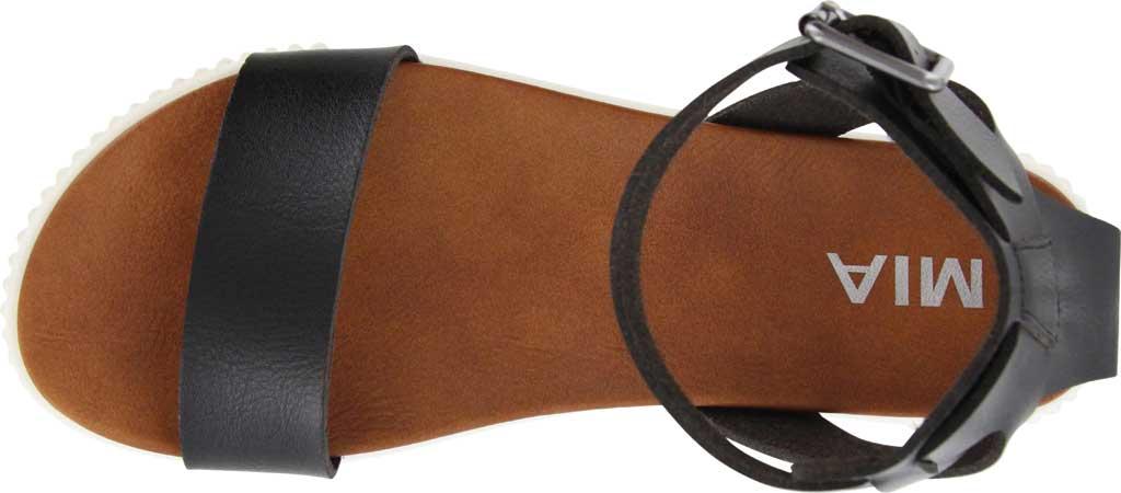 Women's Mia Lunna Athletic Sandal, Black Vegan Leather, large, image 4