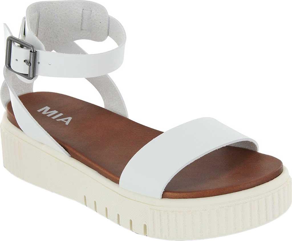 Women's Mia Lunna Athletic Sandal, White Vegan Leather, large, image 1