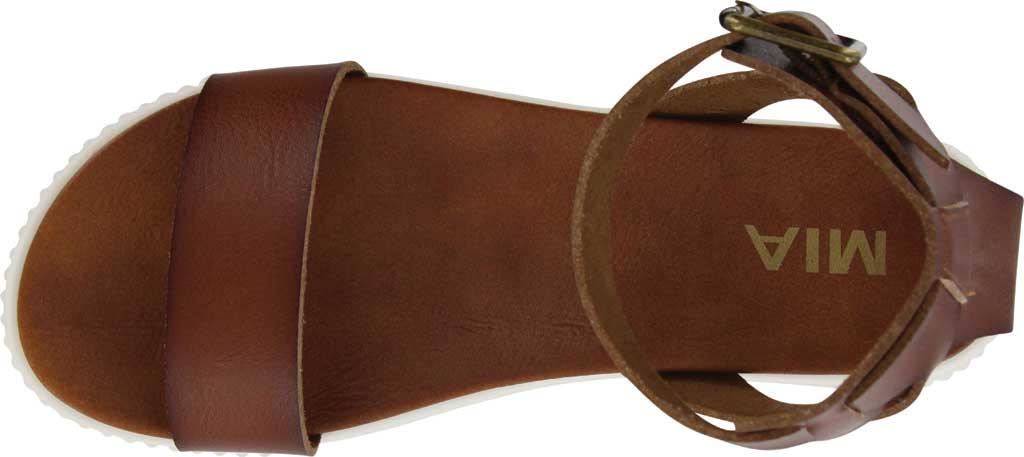 Women's Mia Lunna Athletic Sandal, Cognac Vegan Leather, large, image 4