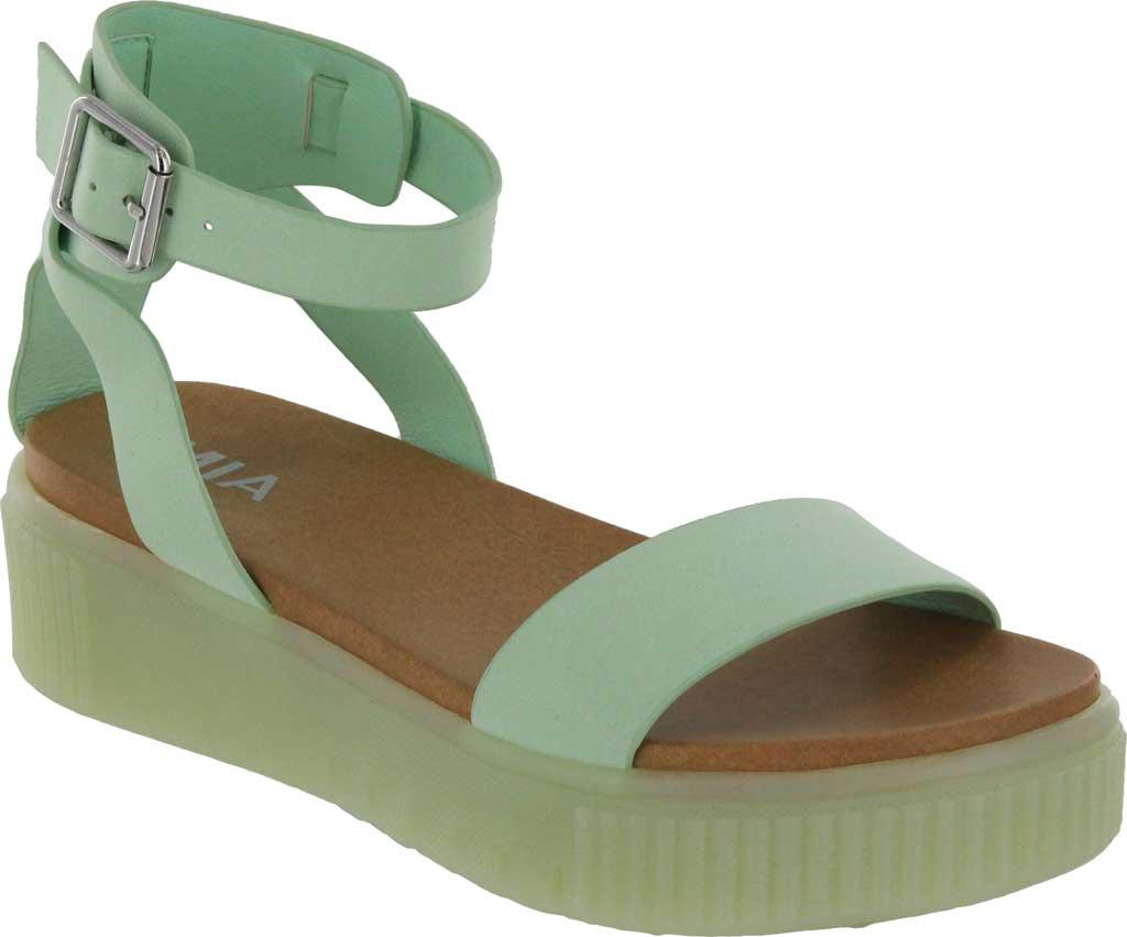 Women's Mia Lunna Athletic Sandal, Pastel Green Vegan Leather, large, image 1