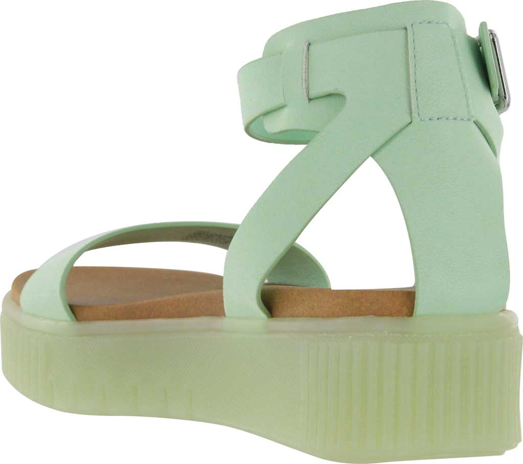 Women's Mia Lunna Athletic Sandal, Pastel Green Vegan Leather, large, image 2
