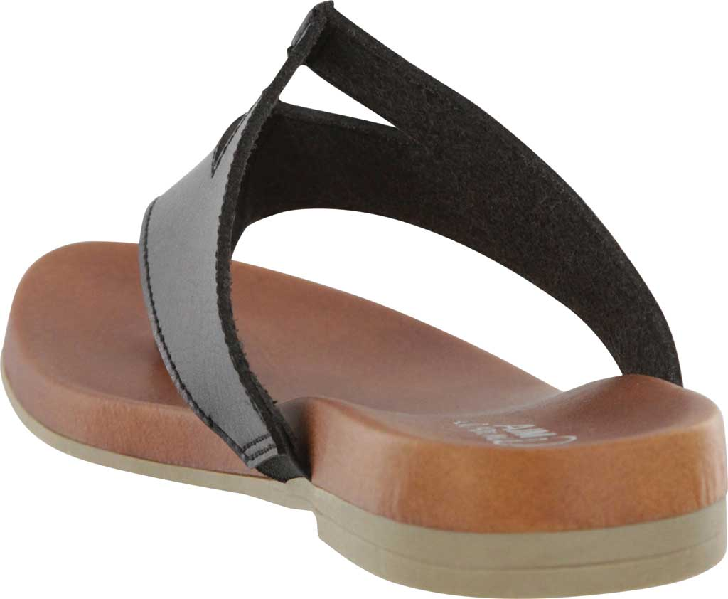 Women's Mia Amore Patriciaa Thong Sandal, Black Manmade, large, image 3