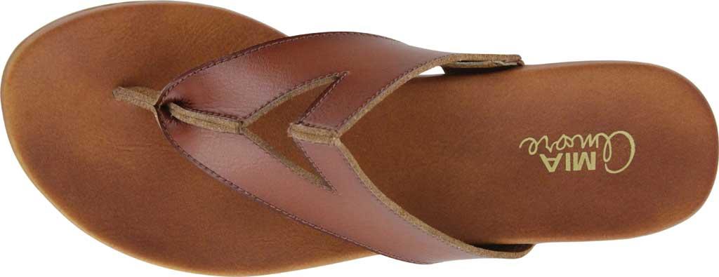 Women's Mia Amore Patriciaa Thong Sandal, Cognac Manmade, large, image 4