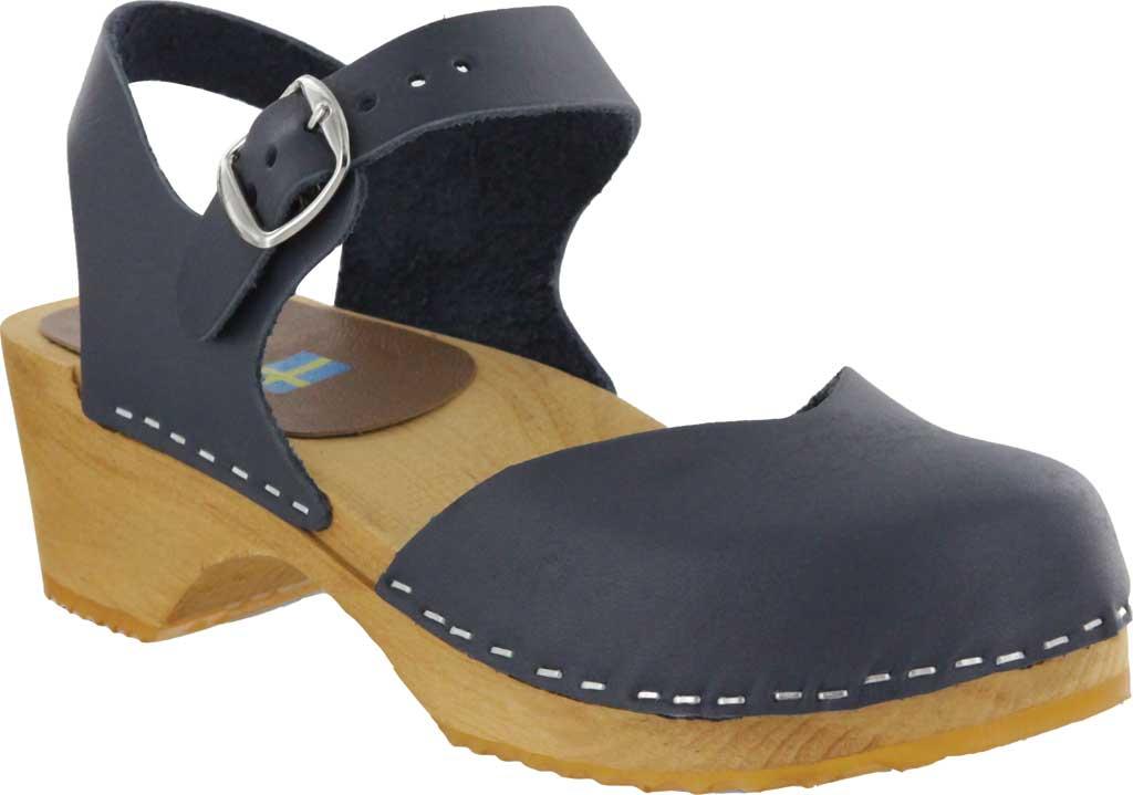 Women's Mia Sofia Closed Toe Sandal, Navy Italian Leather, large, image 1