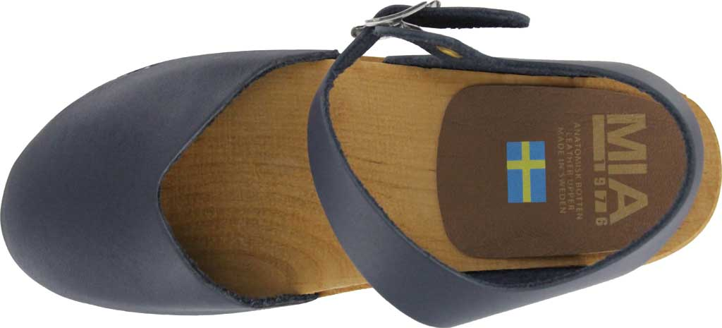 Women's Mia Sofia Closed Toe Sandal, Navy Italian Leather, large, image 4