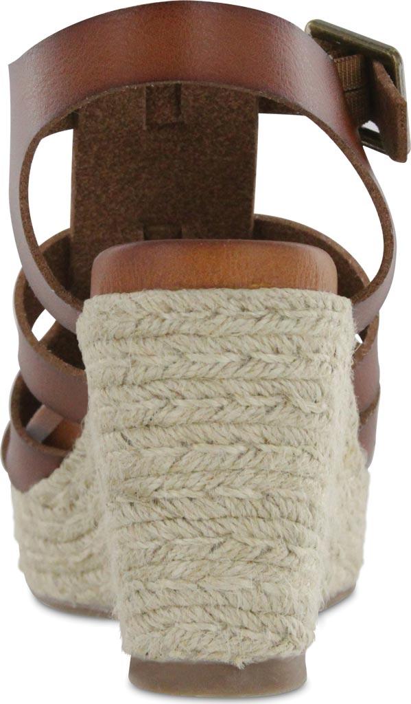 Women's Mia Giordanaa Wedge Sandal, Cognac Vegan Leather, large, image 3