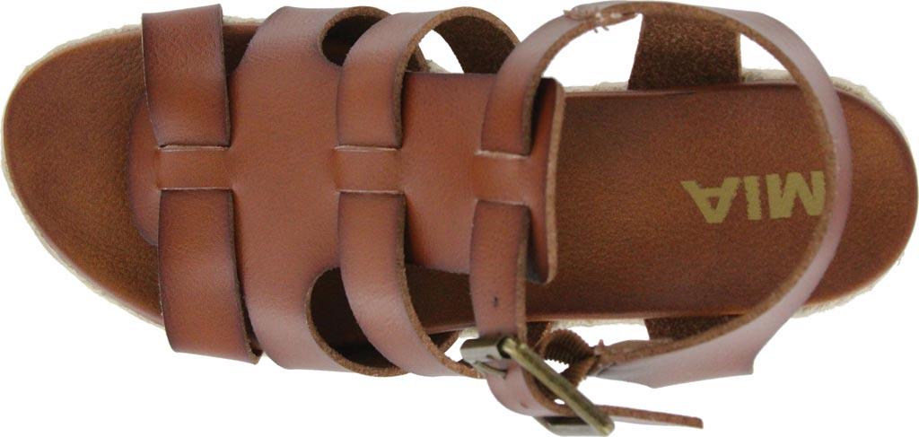 Women's Mia Giordanaa Wedge Sandal, Cognac Vegan Leather, large, image 4