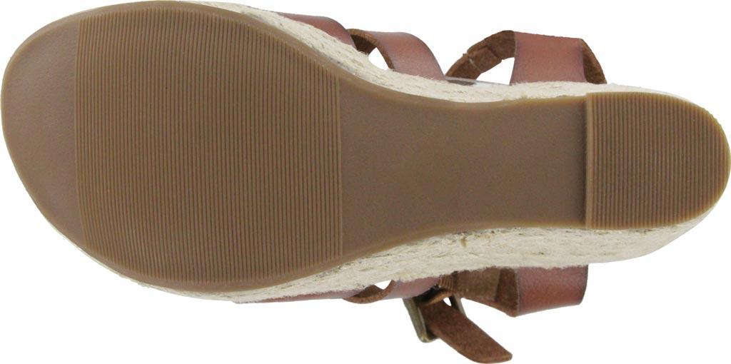 Women's Mia Giordanaa Wedge Sandal, Cognac Vegan Leather, large, image 5
