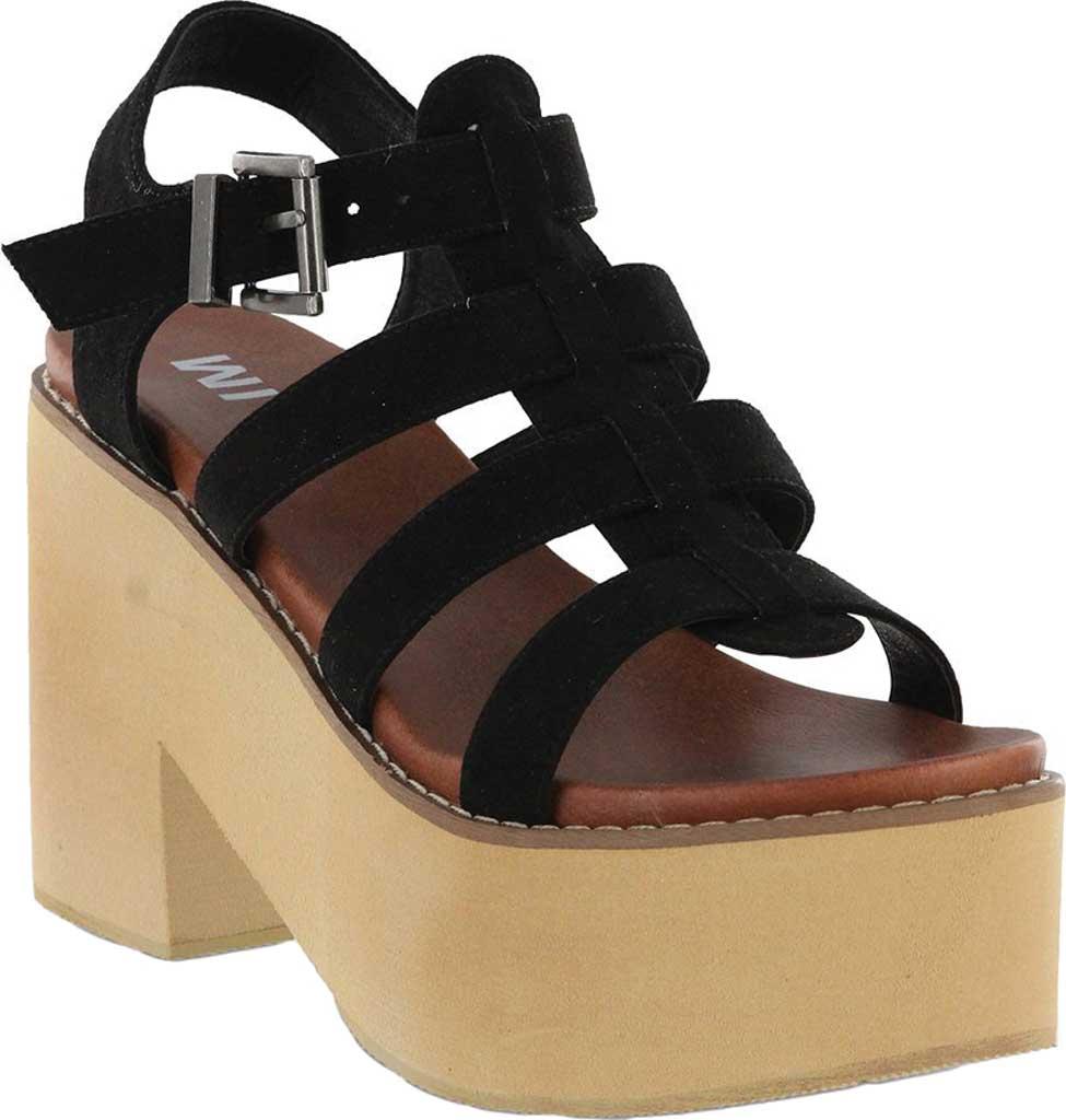 Women's Mia Vinita Gladiator Platform Heeled Sandal, Black Vegan Nova Suede, large, image 1