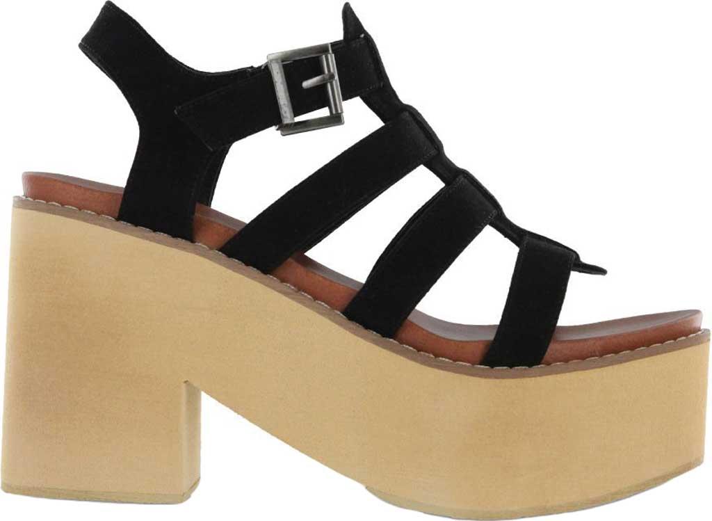 Women's Mia Vinita Gladiator Platform Heeled Sandal, Black Vegan Nova Suede, large, image 2