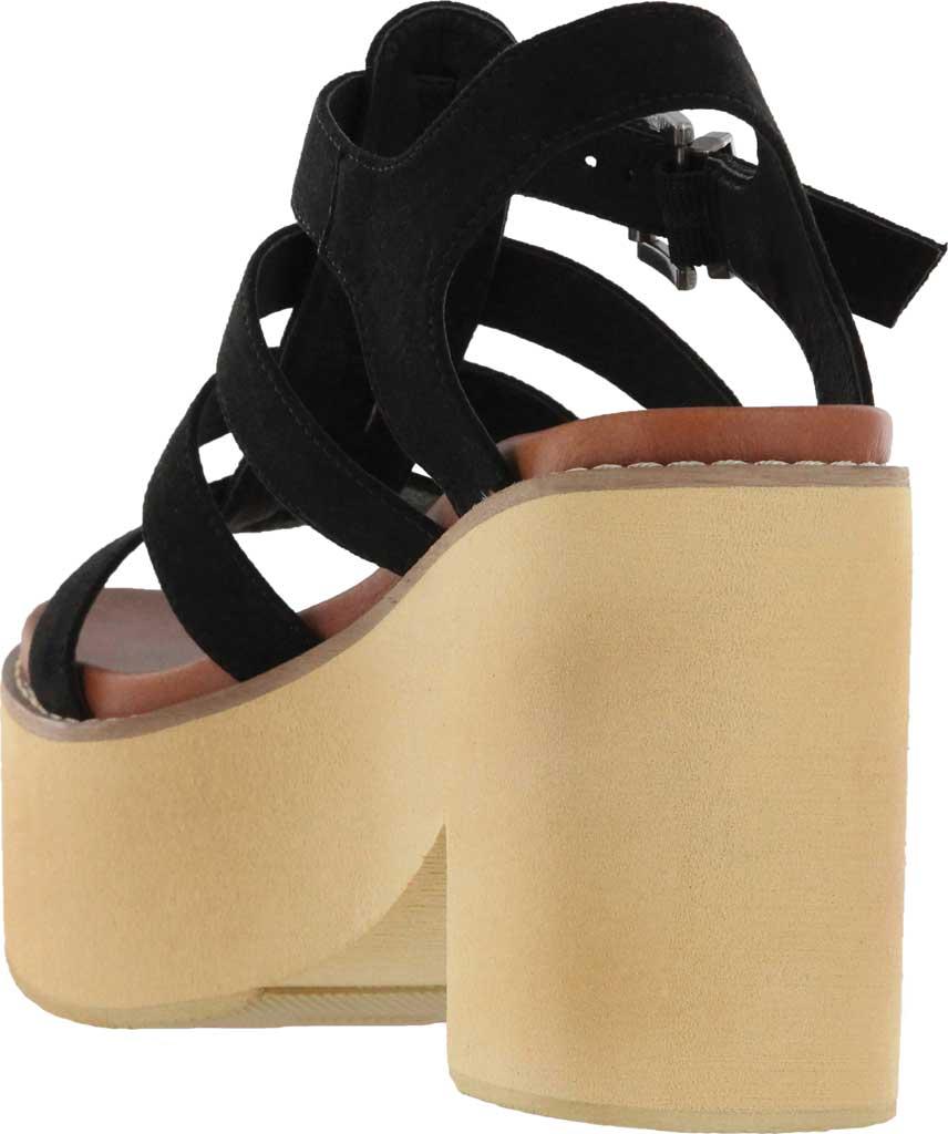Women's Mia Vinita Gladiator Platform Heeled Sandal, Black Vegan Nova Suede, large, image 3