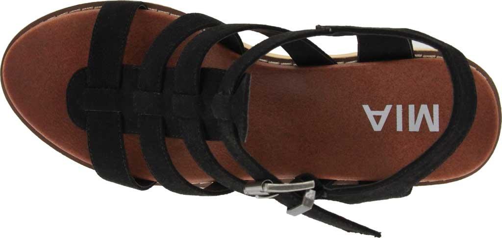 Women's Mia Vinita Gladiator Platform Heeled Sandal, Black Vegan Nova Suede, large, image 4
