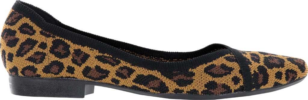 Women's Mia Jennette Pointed Toe Ballet Flat, Leopard Print Flyknit, large, image 2