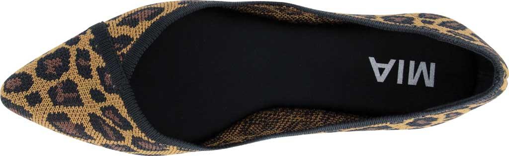 Women's Mia Jennette Pointed Toe Ballet Flat, Leopard Print Flyknit, large, image 4