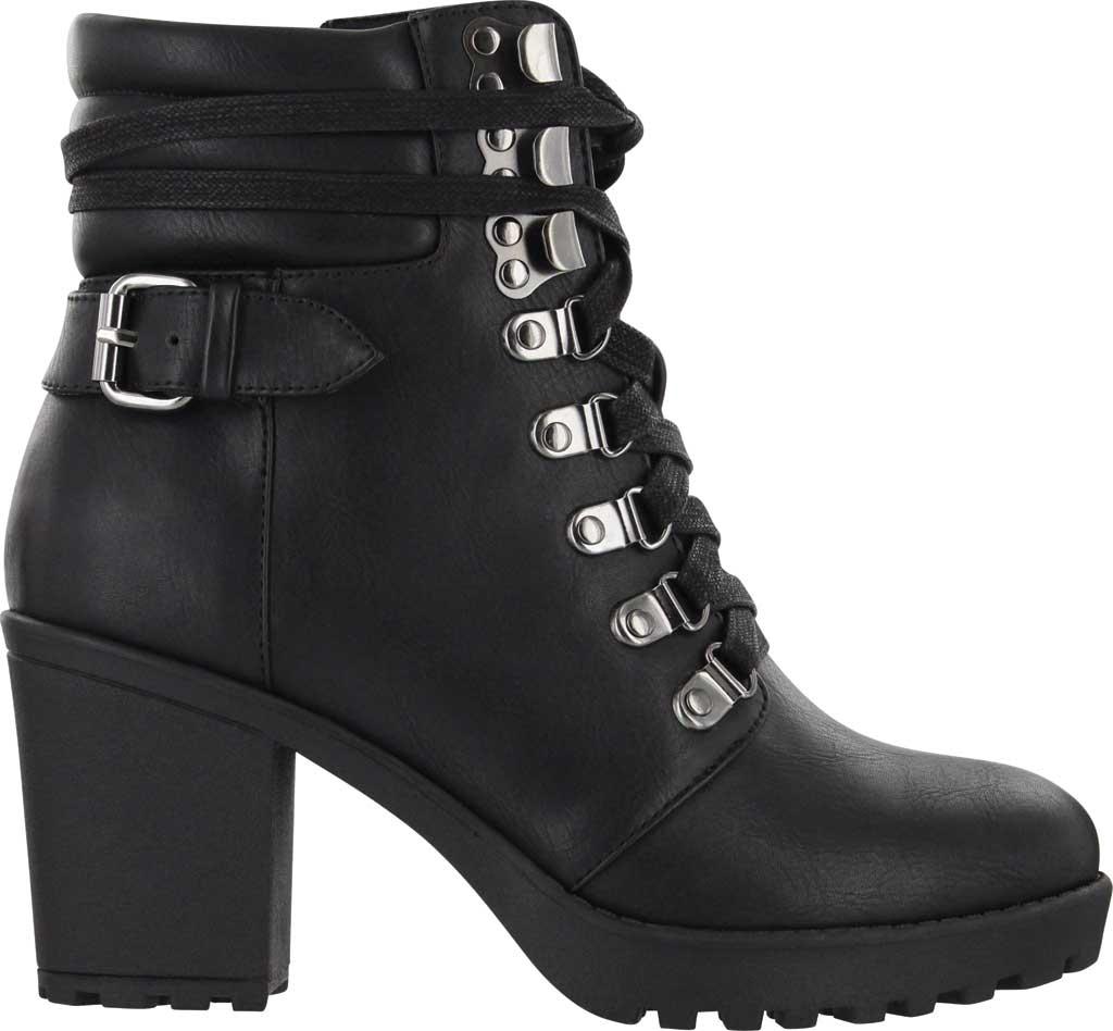 Women's Mia Annamaria Heeled Ankle Bootie, Black Vegan Leather, large, image 2