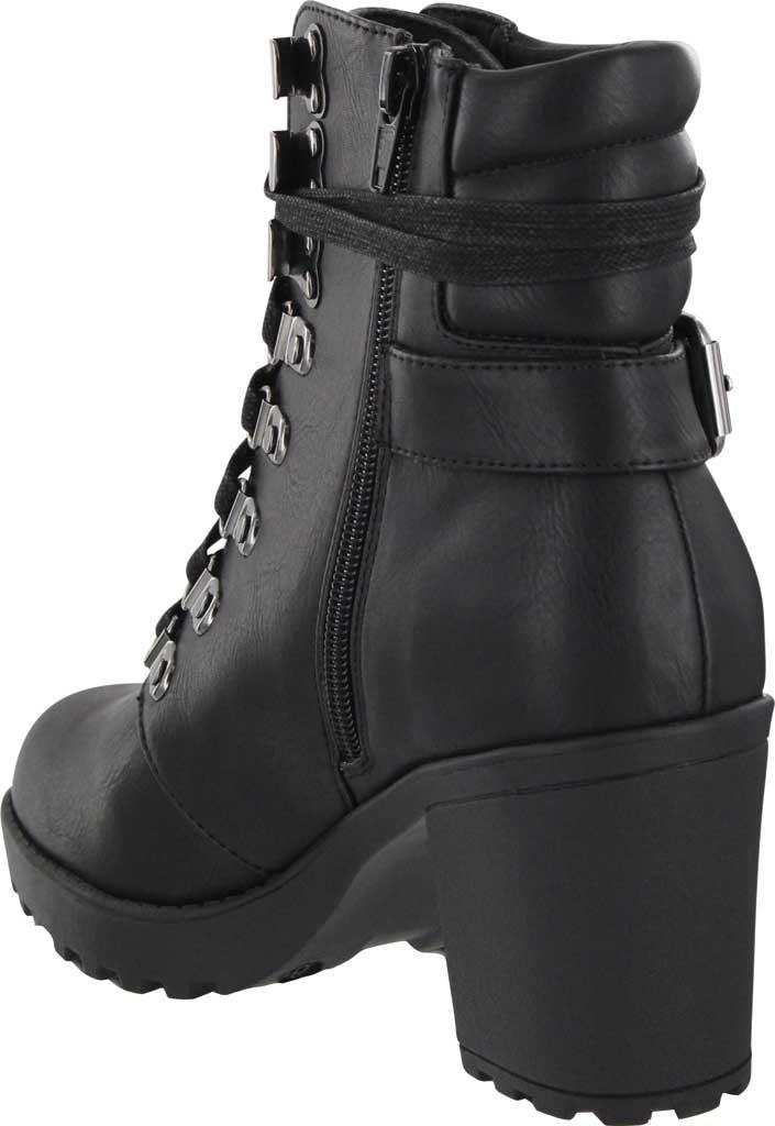 Women's Mia Annamaria Heeled Ankle Bootie, Black Vegan Leather, large, image 3