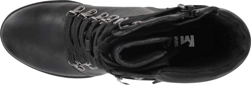 Women's Mia Annamaria Heeled Ankle Bootie, Black Vegan Leather, large, image 4