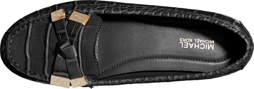 Women's MICHAEL Michael Kors Ripley Moc Toe Loafer, Black Embossed Croco Leather, large, image 3