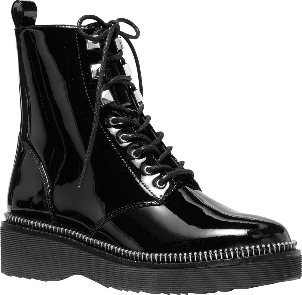 Women's MICHAEL Michael Kors Haskell Combat Bootie, Black Patent Leather, large, image 1