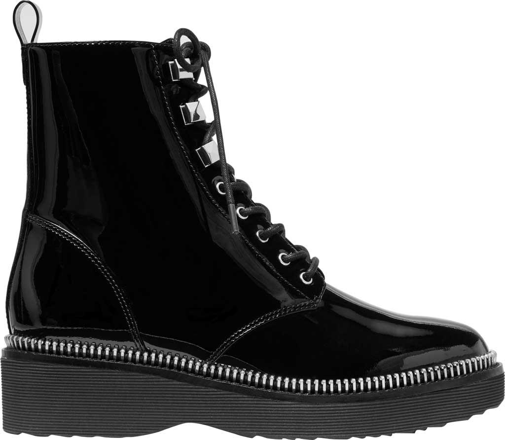 Women's MICHAEL Michael Kors Haskell Combat Bootie, Black Patent Leather, large, image 2