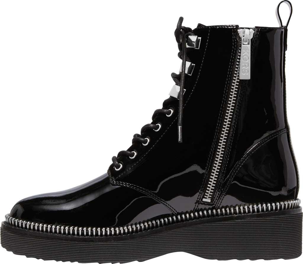 Women's MICHAEL Michael Kors Haskell Combat Bootie, Black Patent Leather, large, image 3