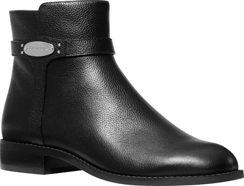 Women's MICHAEL Michael Kors Finley Flat Bootie, Black Tumbled Leather, large, image 1