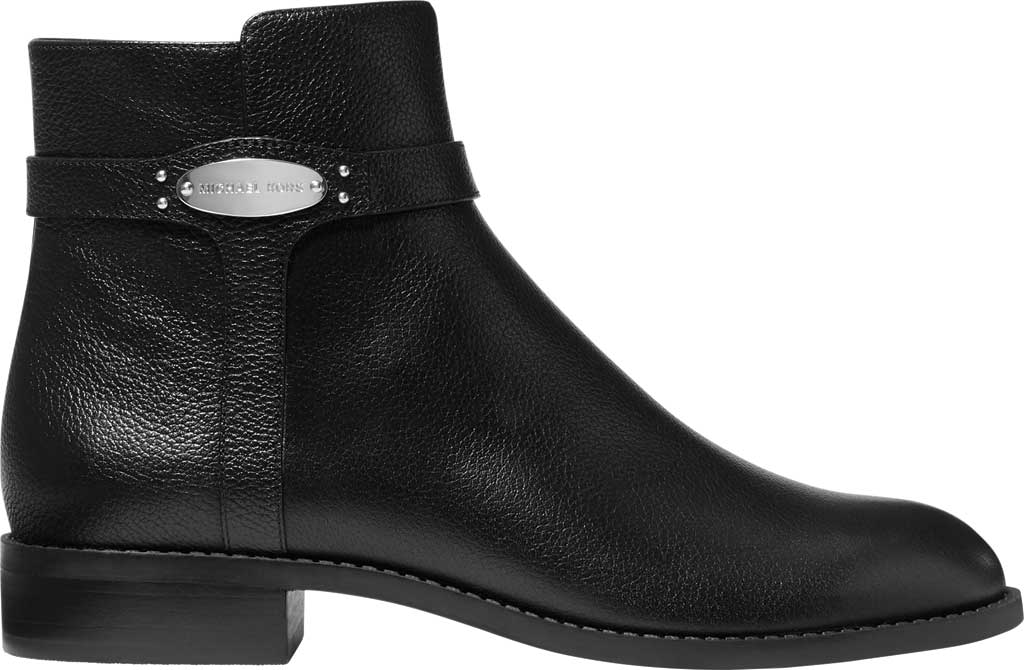 Women's MICHAEL Michael Kors Finley Flat Bootie, Black Tumbled Leather, large, image 2
