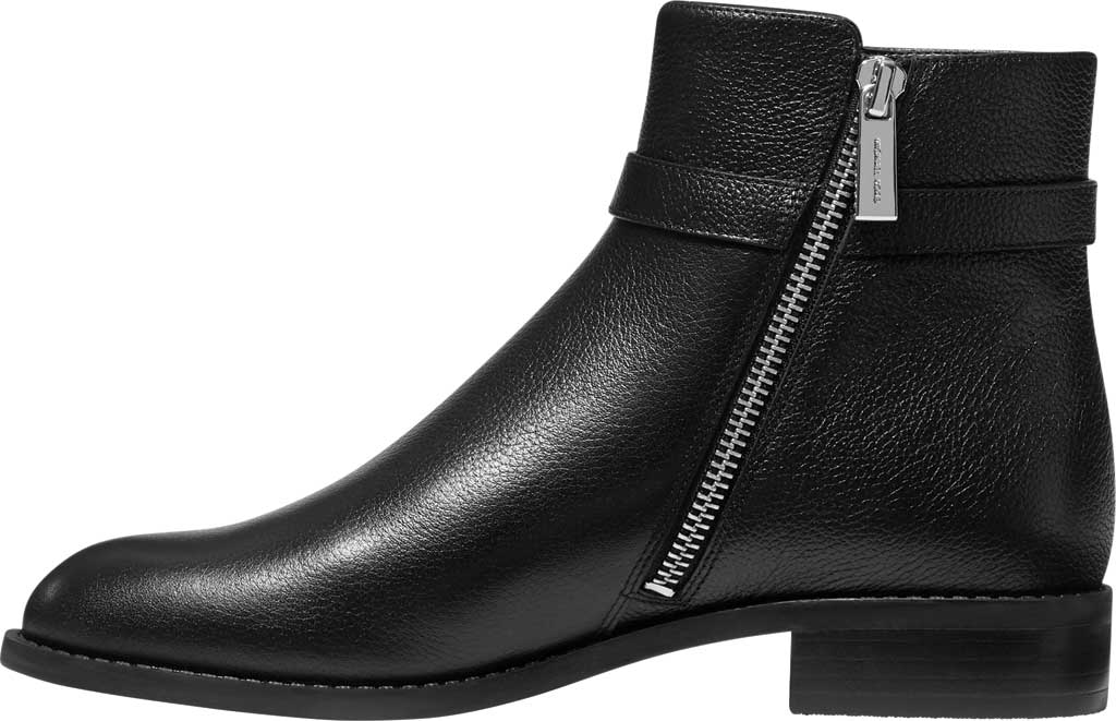 Women's MICHAEL Michael Kors Finley Flat Bootie, Black Tumbled Leather, large, image 3