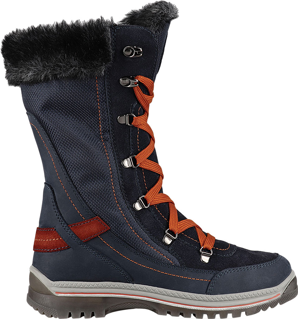 Women's Santana Canada Micah Tall Winter Boot, Navy/Rust Leather, large, image 2