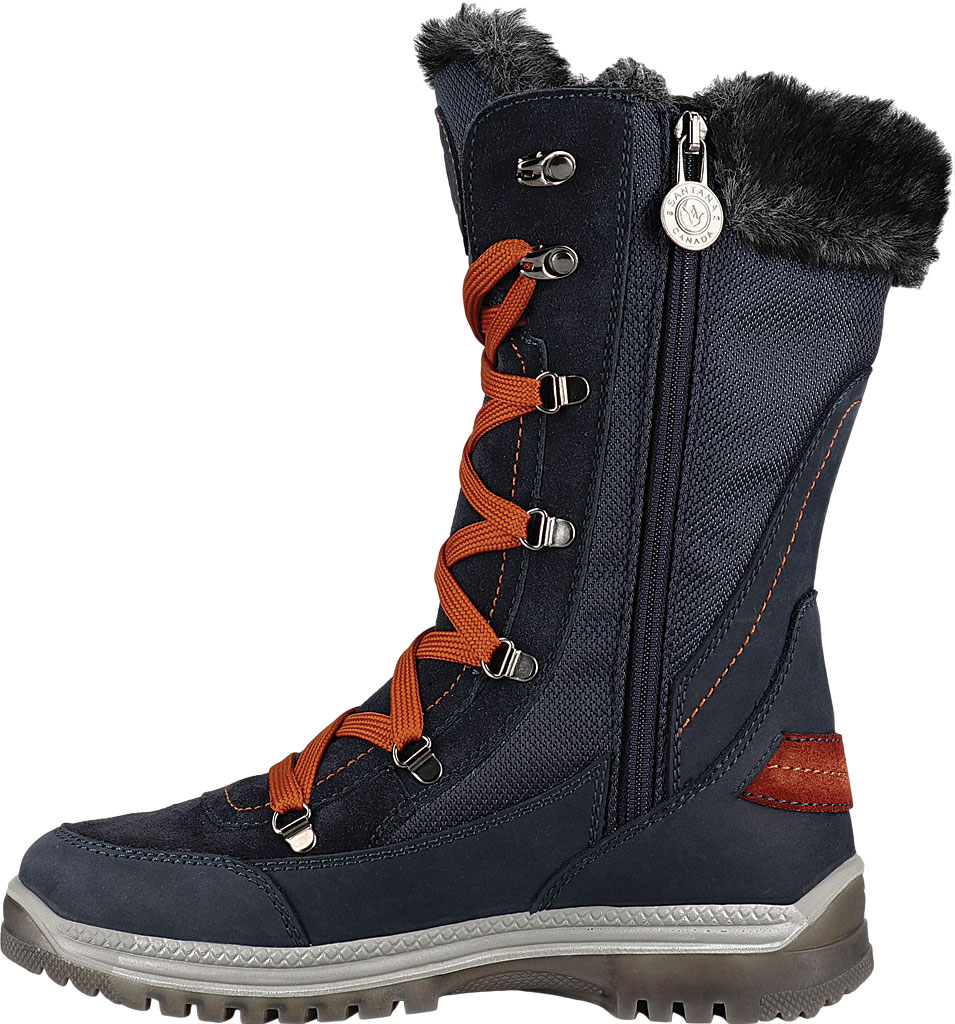 Women's Santana Canada Micah Tall Winter Boot, Navy/Rust Leather, large, image 3
