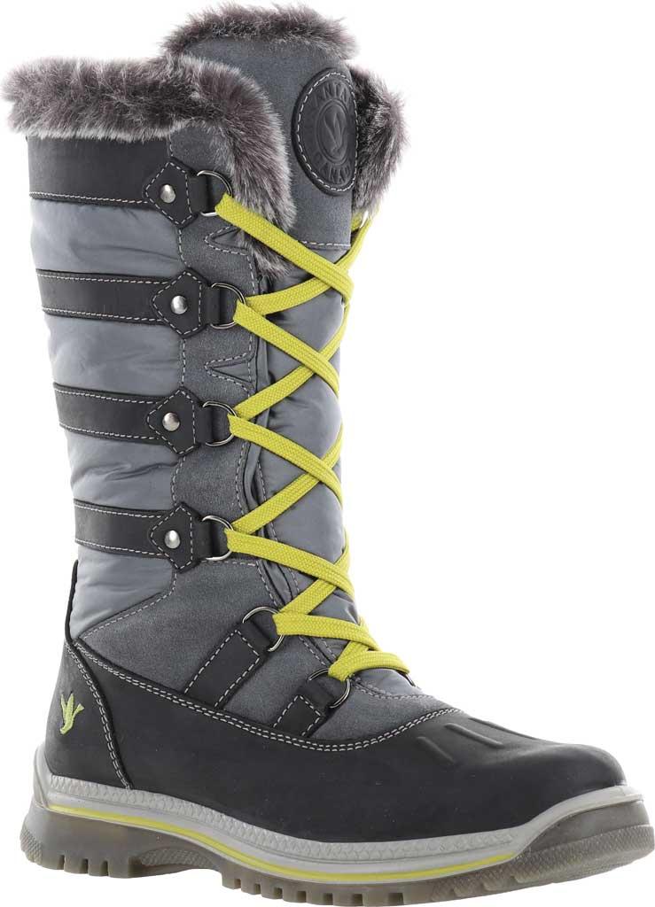 Women's Santana Canada Marlyna Mid Snow Boot, Black/Grey Crazyhorse Leather/Nylon, large, image 1