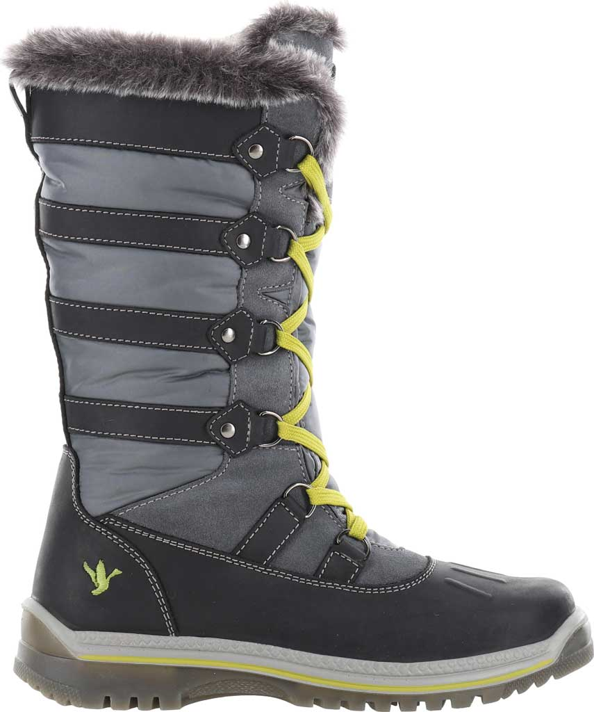 Women's Santana Canada Marlyna Mid Snow Boot, Black/Grey Crazyhorse Leather/Nylon, large, image 2