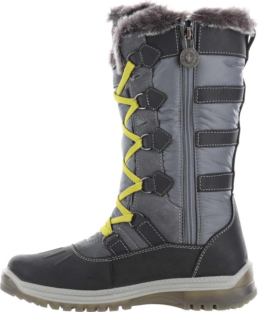 Women's Santana Canada Marlyna Mid Snow Boot, Black/Grey Crazyhorse Leather/Nylon, large, image 3