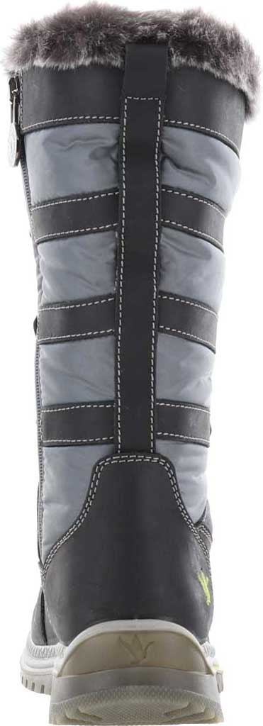 Women's Santana Canada Marlyna Mid Snow Boot, Black/Grey Crazyhorse Leather/Nylon, large, image 4